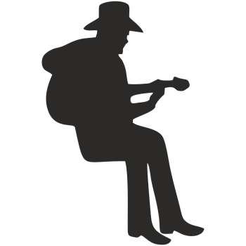 استیکر کلید و پریز چاپ پارسیان طرح مرد گیتارزن بسته دو عددی