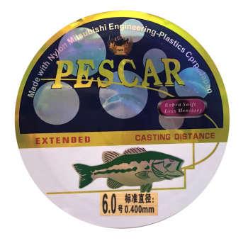 نخ ماهیگیری پسکار مدل P6 سایز 6  (ضخامت 0.4 میلی متر)