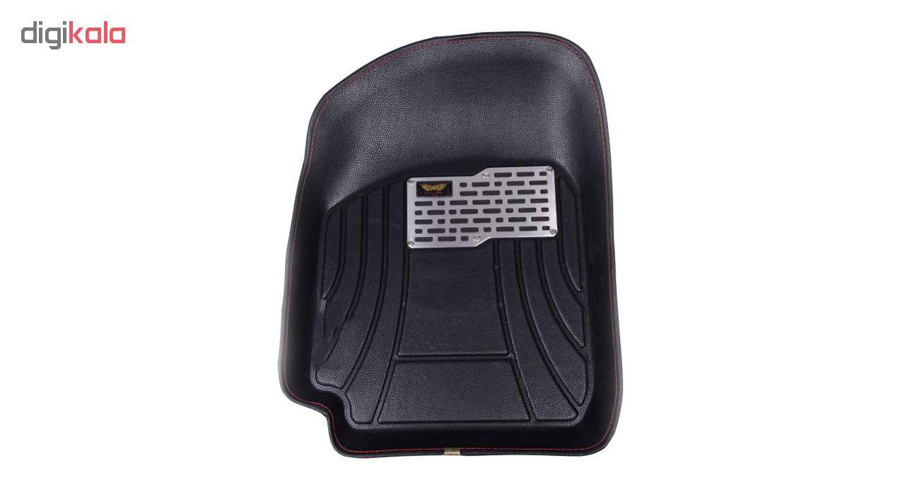 کفپوش سه بعدی خودرو ماهوت کد 8033 مناسب برای ساینا