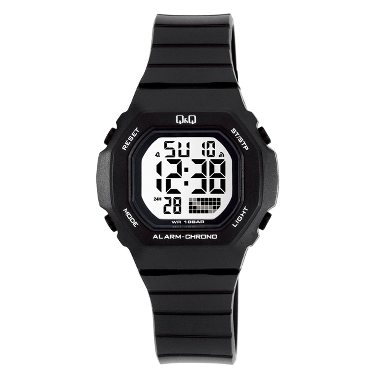 ساعت مچی دیجیتال کیو اند کیو مدل m137j001y  به همراه دستمال مخصوص برند کلین واچ