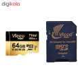 کارت حافظه microSDXC ویکومن مدل 600x plus کلاس 10 استاندارد UHS-I U3 سرعت 90MBs ظرفیت 64 گیگابایت به همراه آداپتور SD thumb 2