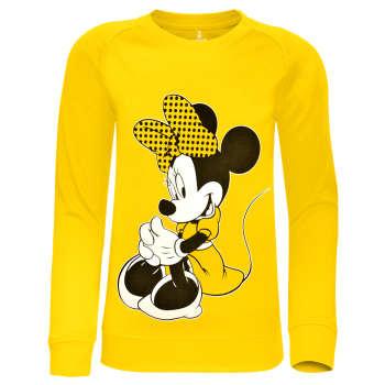 سویشرت دخترانه ساروک مدل Minnie Mouse رنگ زرد