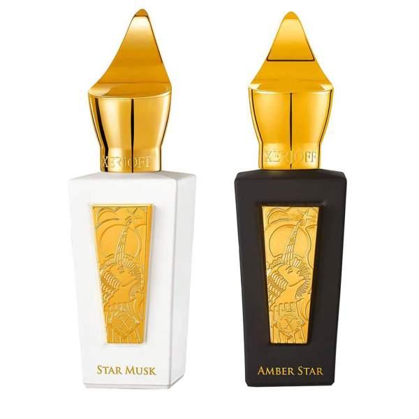 ست ادو پرفیوم زرژوف سری Shooting Stars مدل Amber Star و Star Musk حجم 50 میلی لیتر