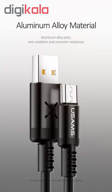 کابل تبدیل USB به microUSB یوسمز مدل US-SJ288 طول 1 متر main 1 3