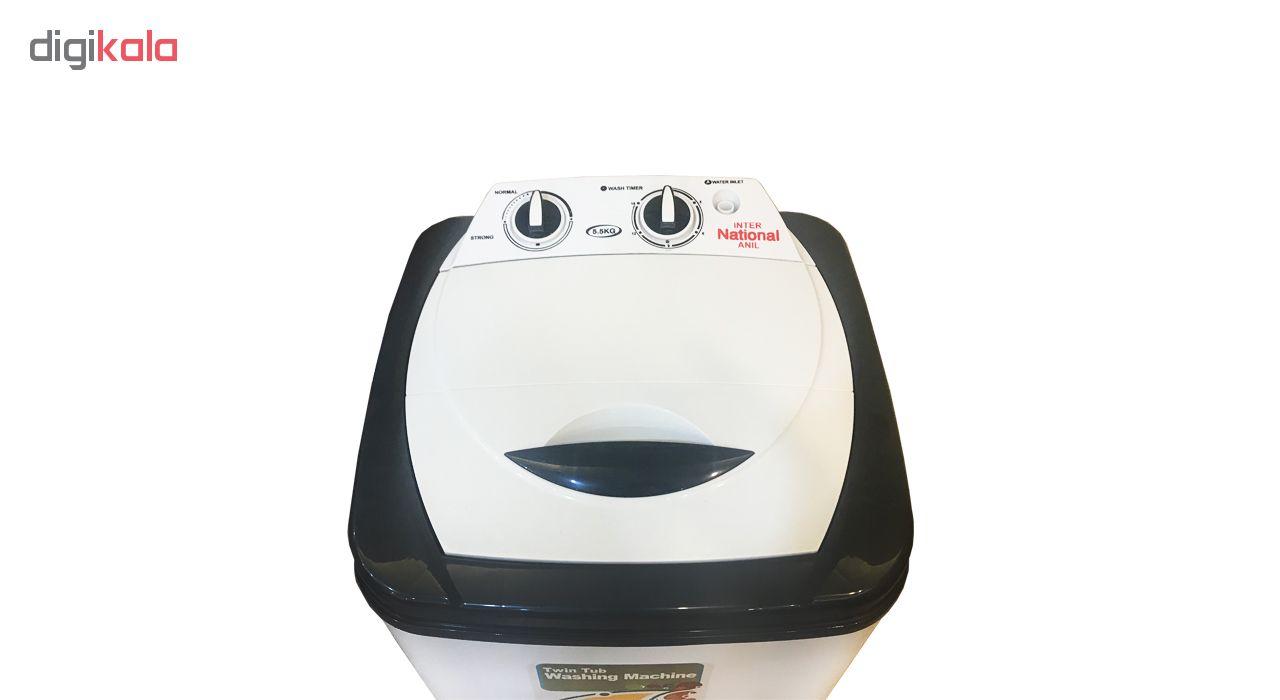 ماشین لباسشویی اینترنشنال آنیل مدل MWT6000 ظرفیت 6 کیلوگرم