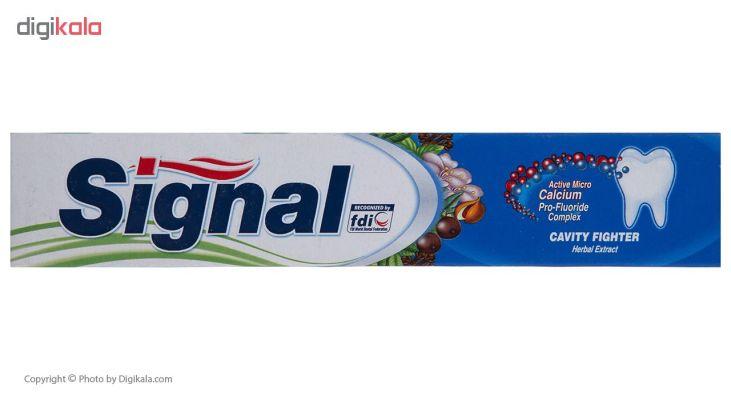 خرید                      خمیر دندان سیگنال سری Cavity Fighter مدل Herbal Extract حجم 50 میلی لیتر