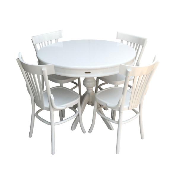 میز و صندلی ناهار خوری لهستانی اصل با میز اصل اسپرسان چوب مدل SM27