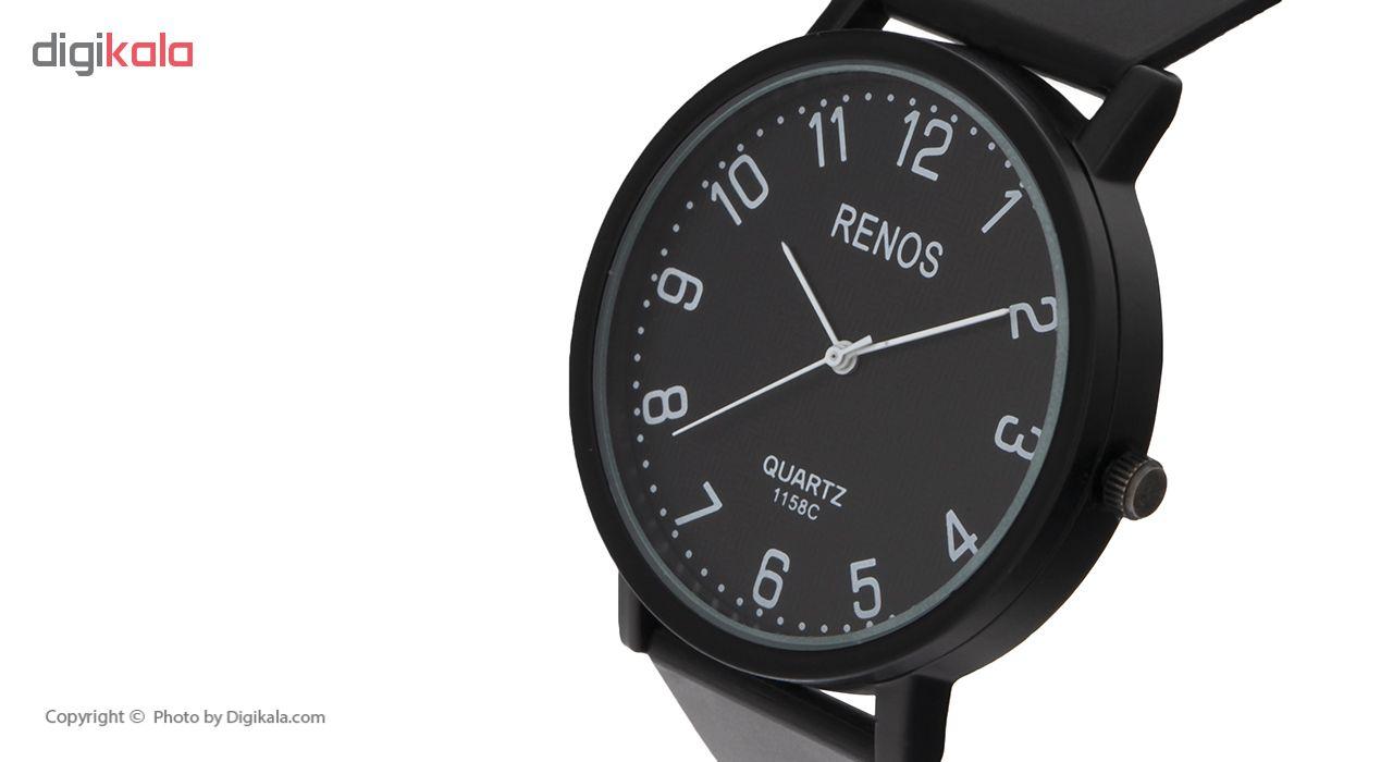 خرید ساعت مچی عقربه ای مردانه رنوس کد R-918 | ساعت مچی