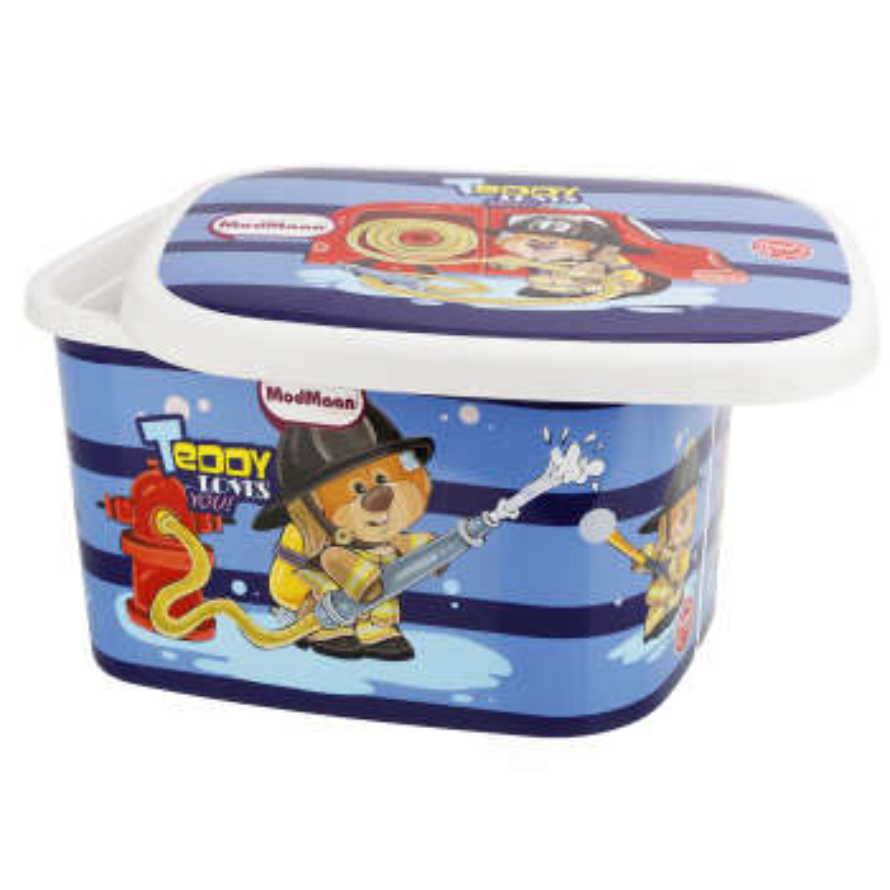 جعبه اسباب بازی کودک مدمان طرح خرس آتش نشان کد1