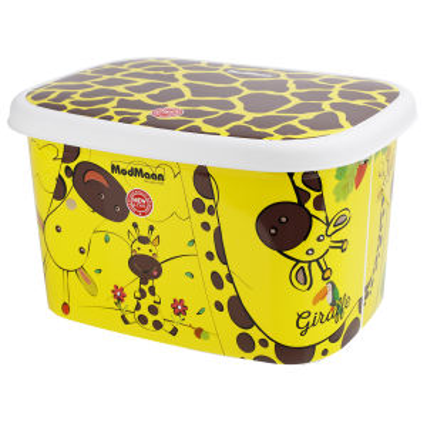جعبه اسباب بازی کودک مدمان طرح زرافه کد2