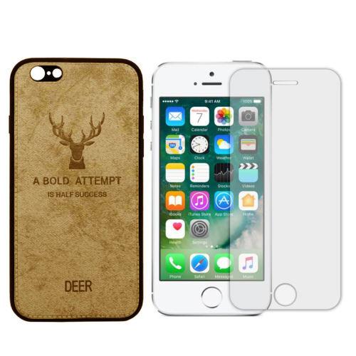 کاور طرح 03-Deer مناسب برای گوشی موبایل اپل Iphone 5/5s/se به همراه محافظ صفحه نمایش
