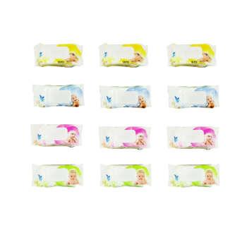دستمال مرطوب بانیو مدل ECE بسته 12 عددی