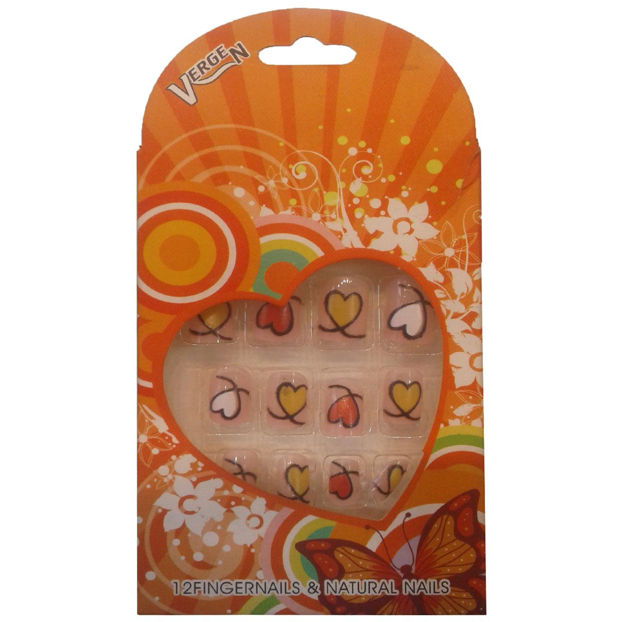 قیمت ناخن مصنوعی دخترانه ورژن کد 114 بسته 12 عددی