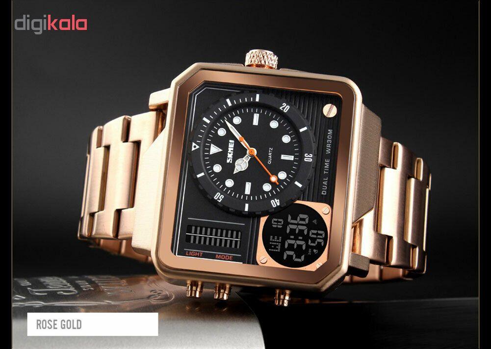 خرید ساعت مچی عقربه ای مردانه اسکمی مدل 1392R