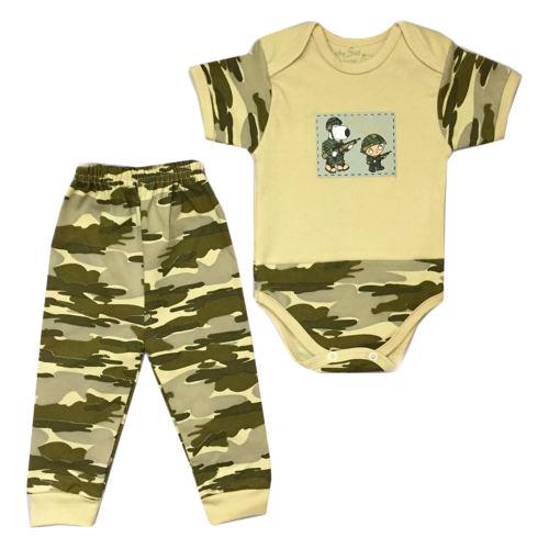 ست بادی و شلوار نوزادی پسرانه  طرح سرباز کوچک کد 0023