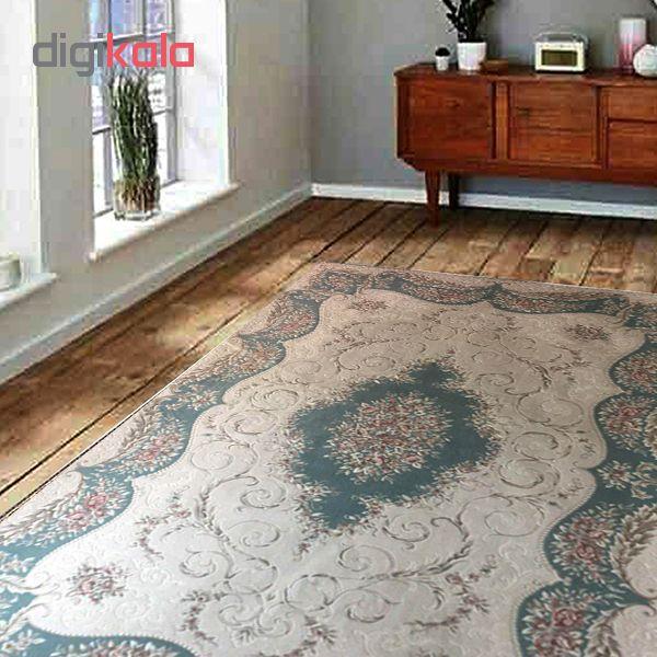 فرش ماشینی کاشمیر طرح رونسانس کد206/12 زمینه کرم