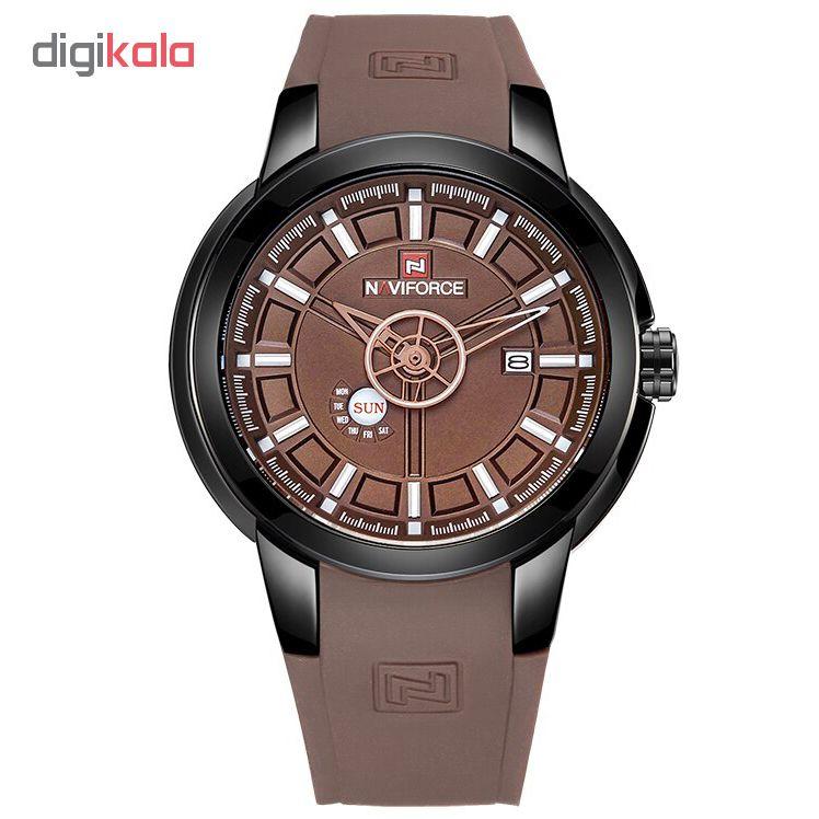 خرید ساعت مچی عقربه ای مردانه نیوی فورس مدل NF9107M / GHA-GH به همراه دستمال مخصوص نانو برند کلیر واچ