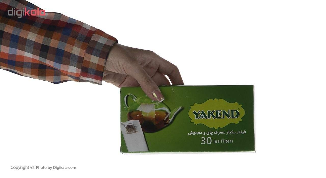 فیلتر چای یکبار مصرف یاکند کد 100032 بسته 30 عددی main 1 5