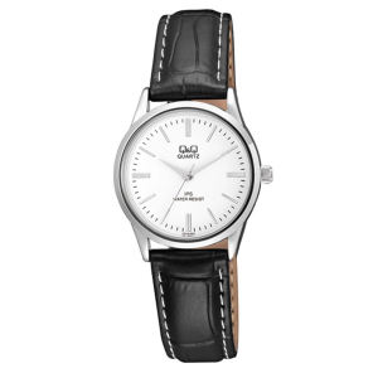 خرید ساعت مچی عقربه ای زنانه کیو اند کیو مدل c215j301y به همراه دستمال مخصوص کلین واچ