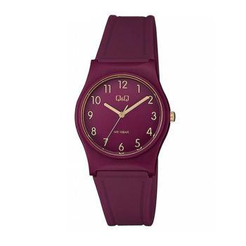ساعت مچی عقربه ای زنانه کیو اند کیو مدل vp34j080y به همراه دستمال مخصوص کلین واچ