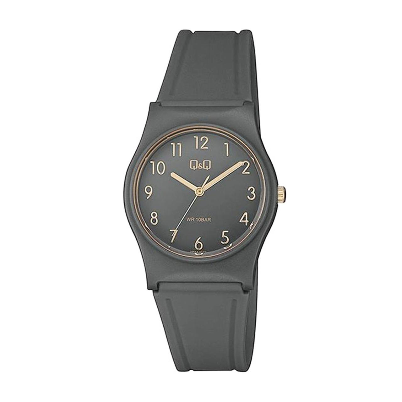 ساعت مچی عقربه ای زنانه کیو اند کیو مدل vp34j079y به همراه دستمال مخصوص کلین واچ