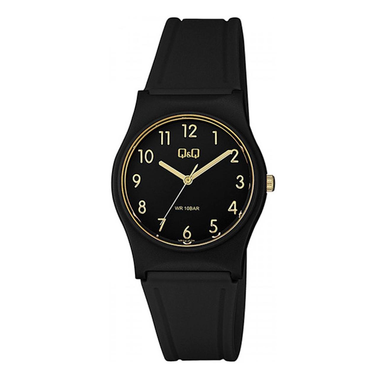 ساعت مچی عقربه ای زنانه کیو اند کیو مدل vp34j074y به همراه دستمال مخصوص کلین واچ