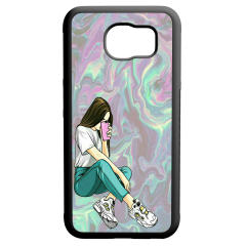 کاور طرح دخترانه کد 110166 مناسب برای گوشی موبایل سامسونگ galaxy s6 edge