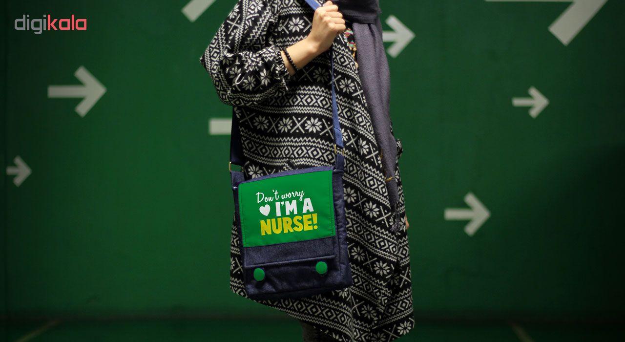کیف دوشی زنانه گالری چی چاپ طرح پرستار