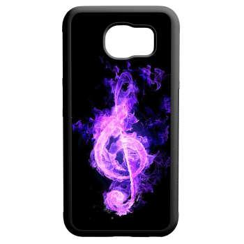 کاور طرح نت موسیقی کد 110188 مناسب برای گوشی موبایل سامسونگ galaxy s6 edge