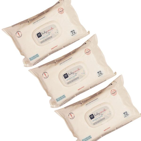 دستمال مرطوب نوزاد بی بی کوکول مدل A0114 بسته 3عددی