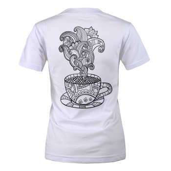 تی شرت زنانه مسترمانی طرح لیوان کد 1434 |