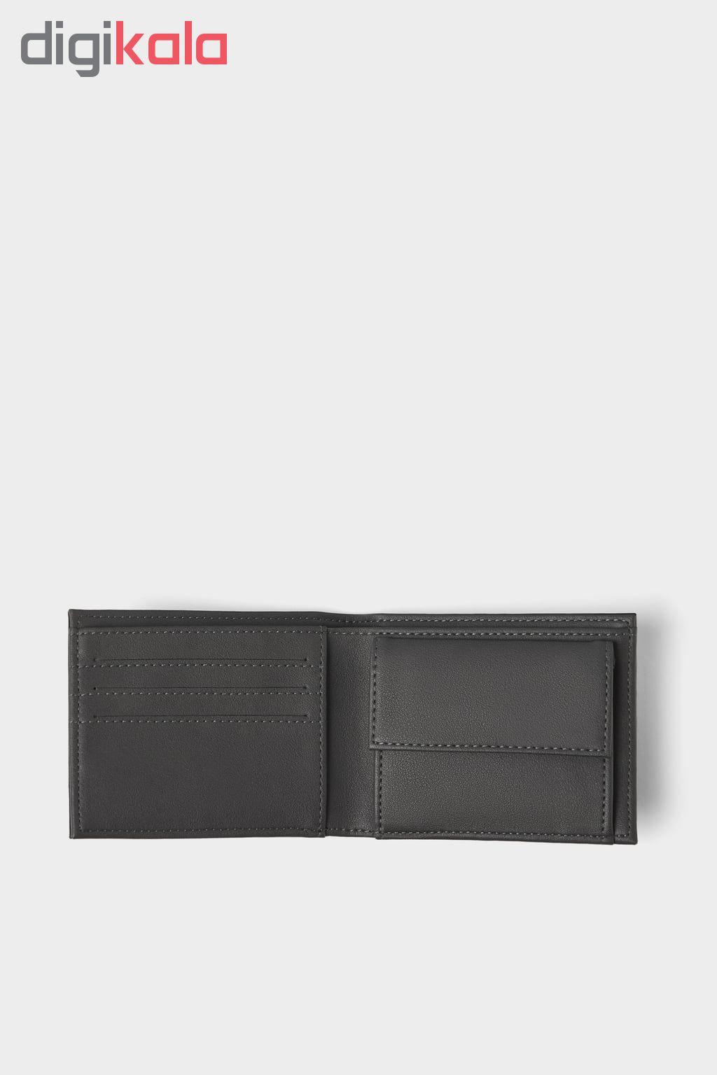 کیف پول مردانه زارا مدل TWO-TONE