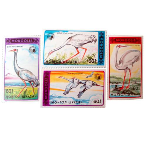 تمبر یادگاری سری حیوانات مدل GRUS3 مجموعه 4 عددی