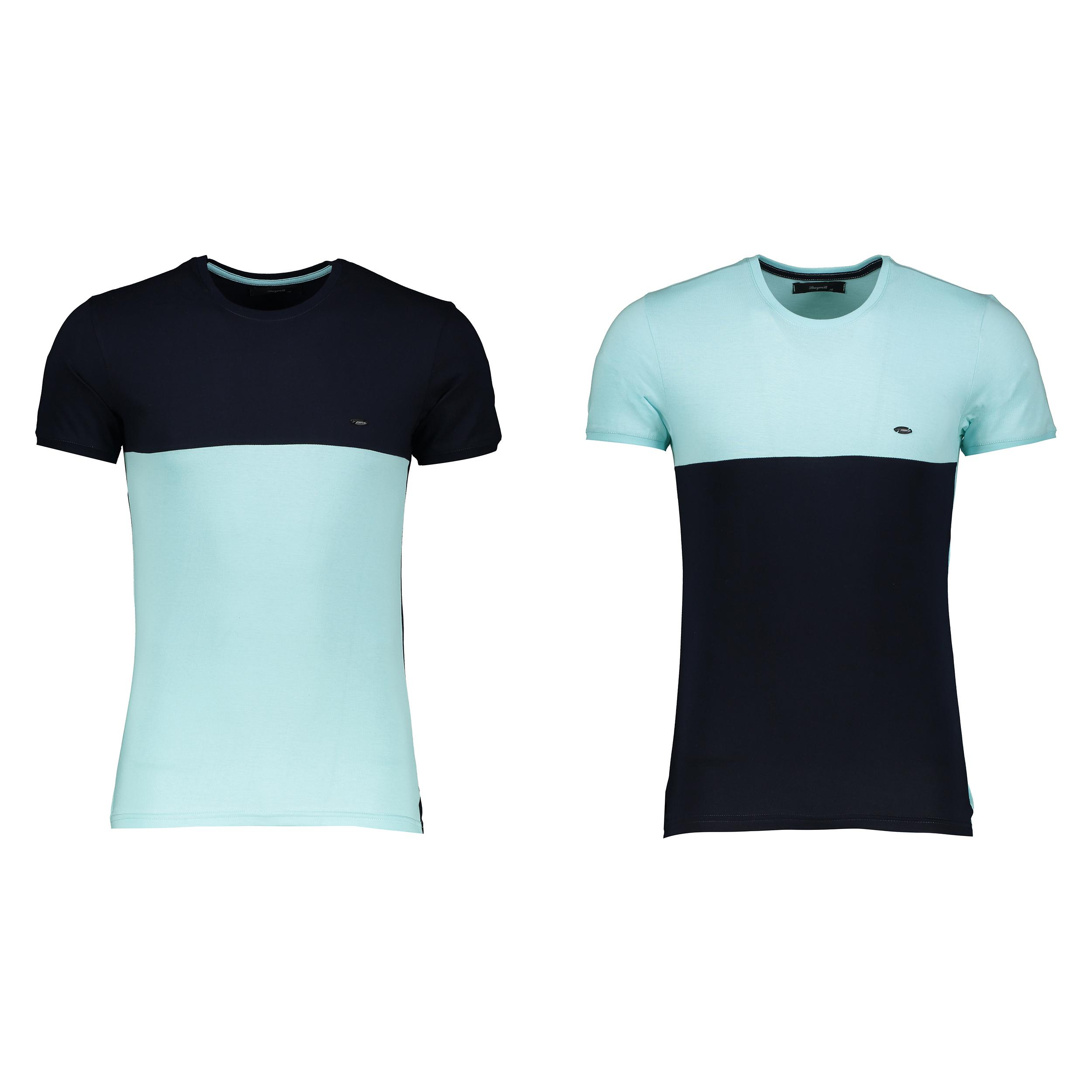 تی شرت آستین کوتاه مردانه بای نت کد 318 بسته 2 عددی