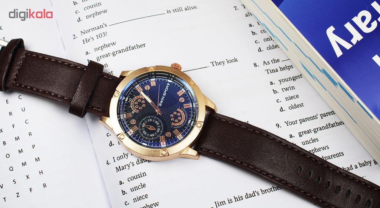 ساعت مچی عقربه ای مردانه آوین اسپرت مدل Series 7-6