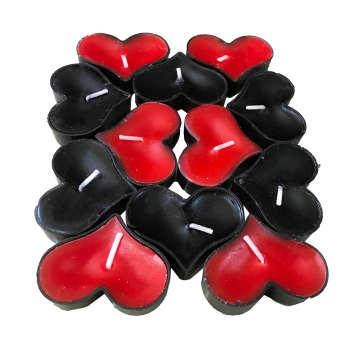 شمع وارمر طرح قلب باریک کد irsa-101 بسته 24 عددی