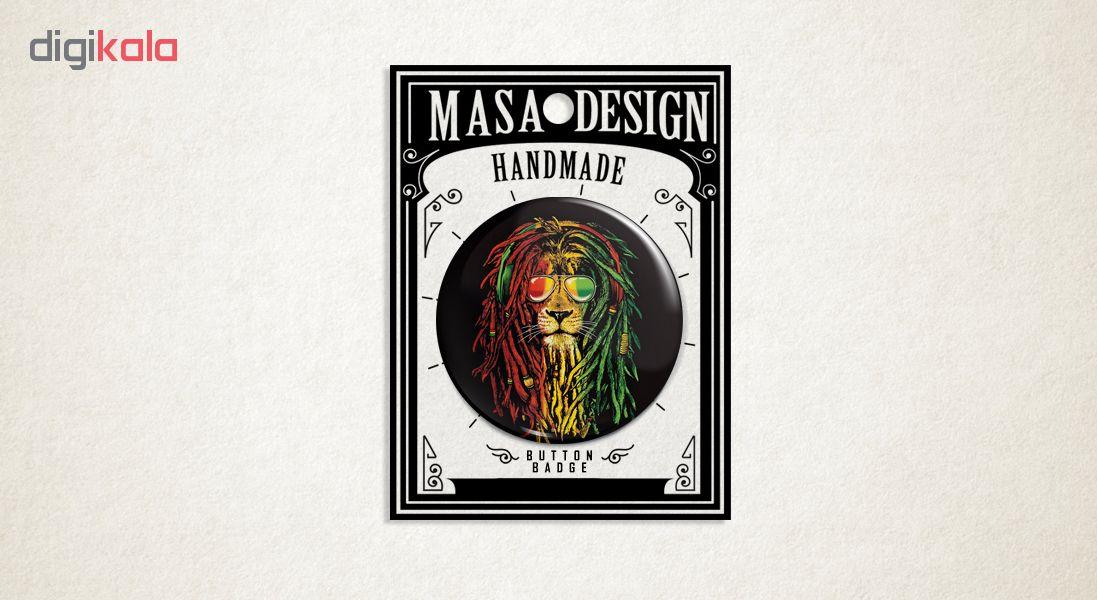 پیکسل ماسا دیزاین طرح شیر باب مارلی کد AS480