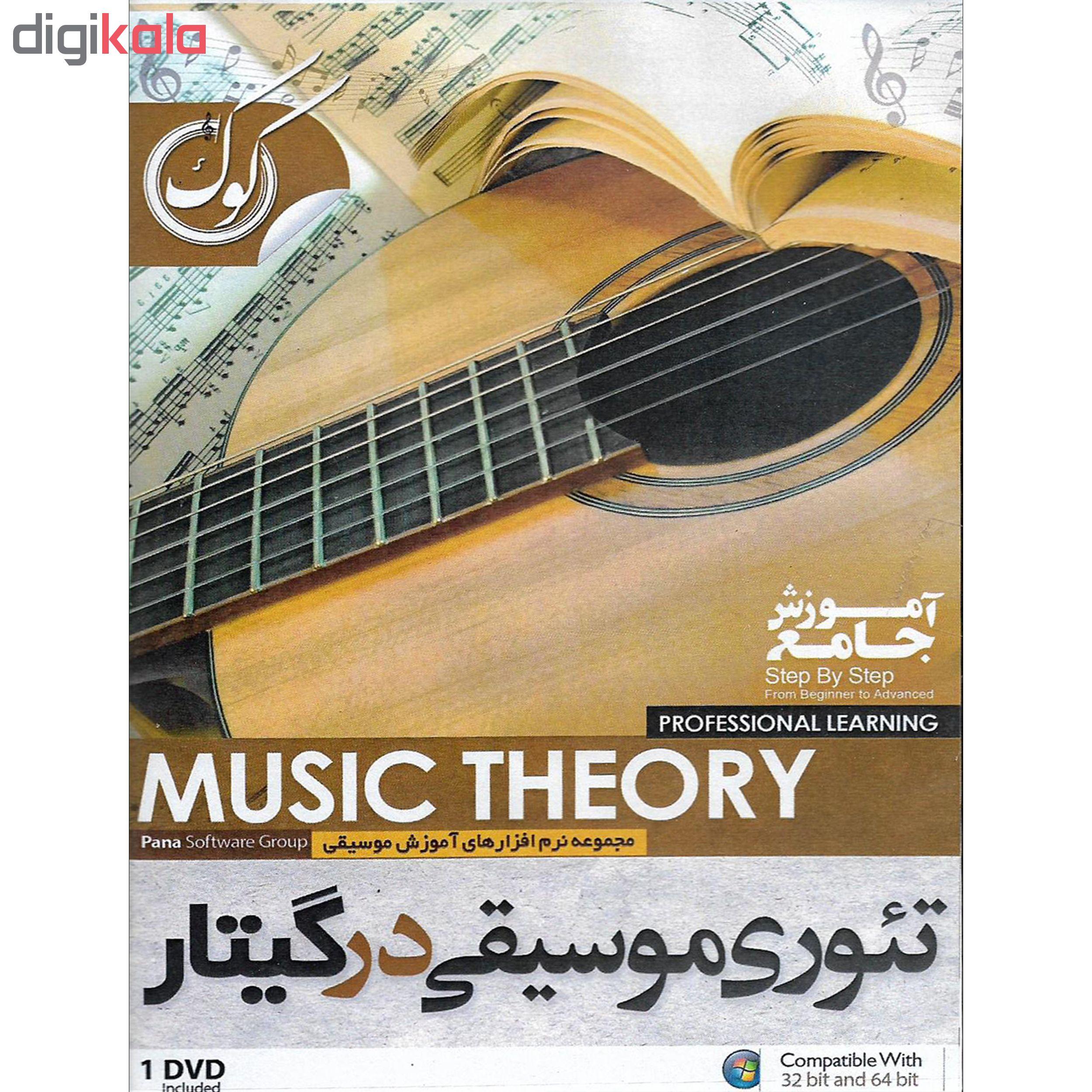 نرم افزار آموزشی تئوری موسیقی در گیتار نشر پاناپرداز به همراه نرم افزار آموزشی گیتار کلاسیک نشر درنا