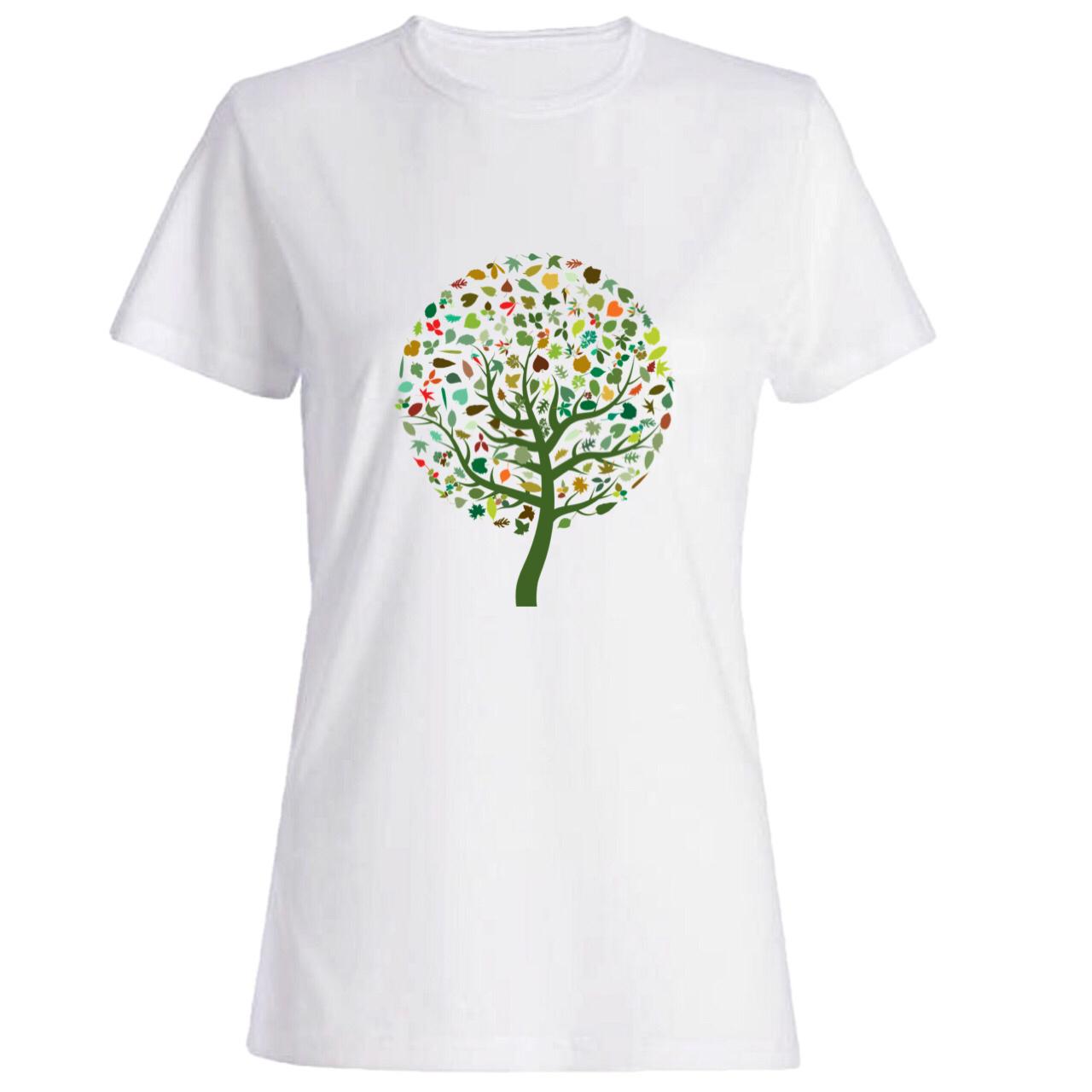 تیشرت زنانه طرح درخت کد 2587