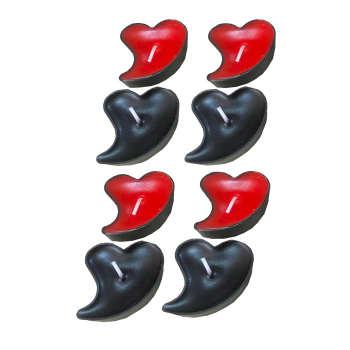 شمع وارمر طرح قلب مایل کد irsa-202 بسته 48 عددی