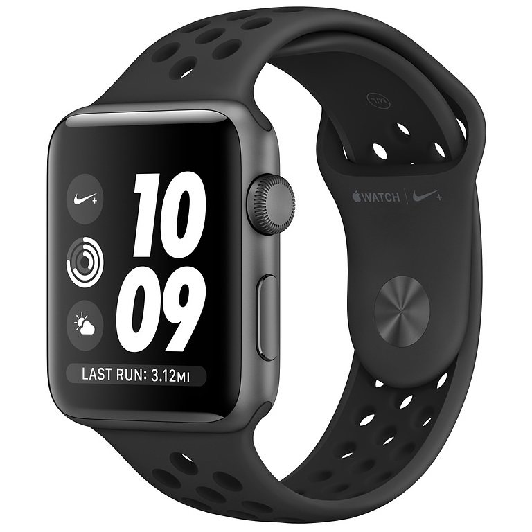 ساعت هوشمند اپل واچ سری 3 مدل Nike Plus 42mm Space Gray Aluminum Case with Anthracite/Black Nike Sport Band