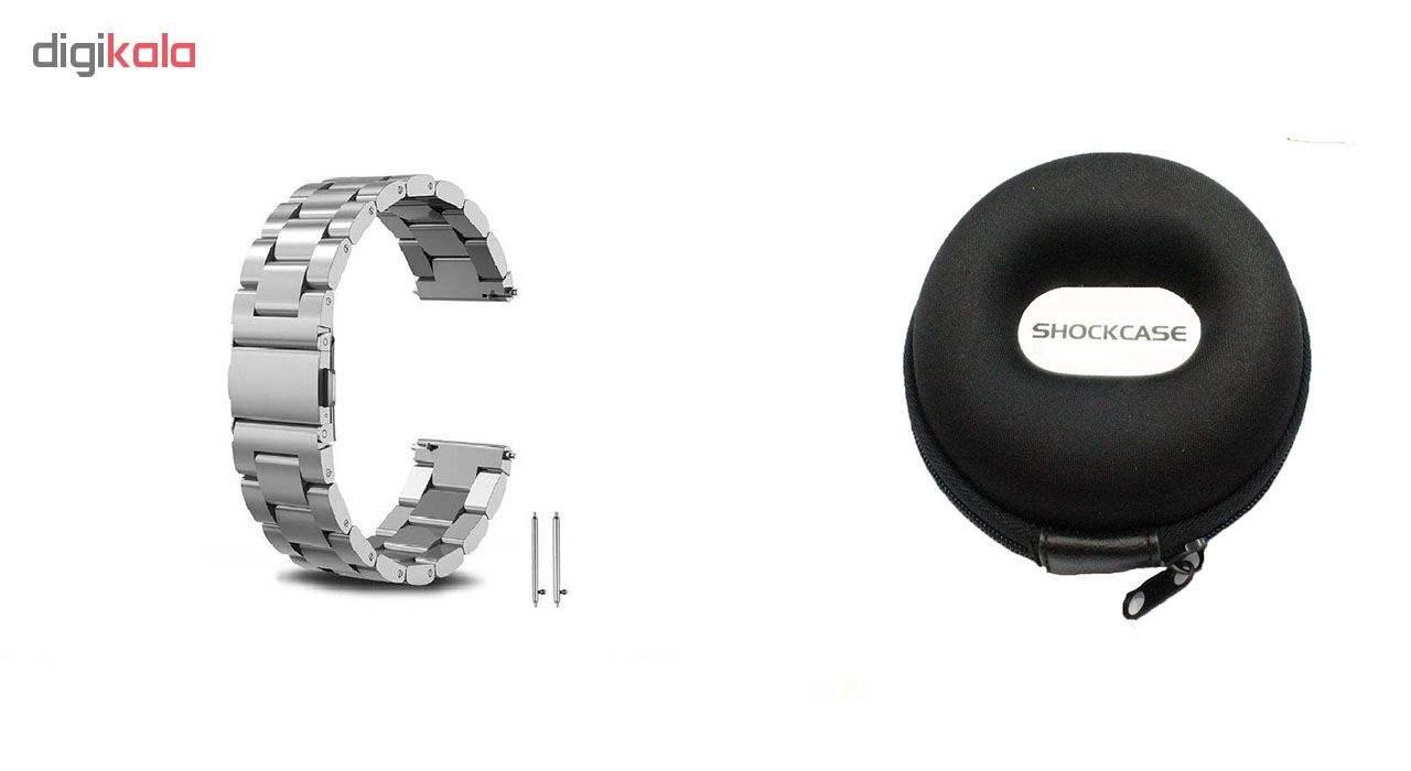 بند مدل Three Pointer به همراه کیف نگهداری ساعت مناسب برای ساعت های سامسونگ Gear S3 / Galaxy Watch 46mm main 1 1