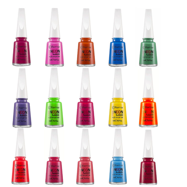 لاک ناخن فلورمار مدل Neon مجموعه 15 عددی