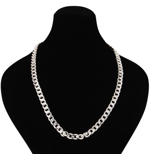 گردنبند نقره مردانه مدوکلاس کد 180440