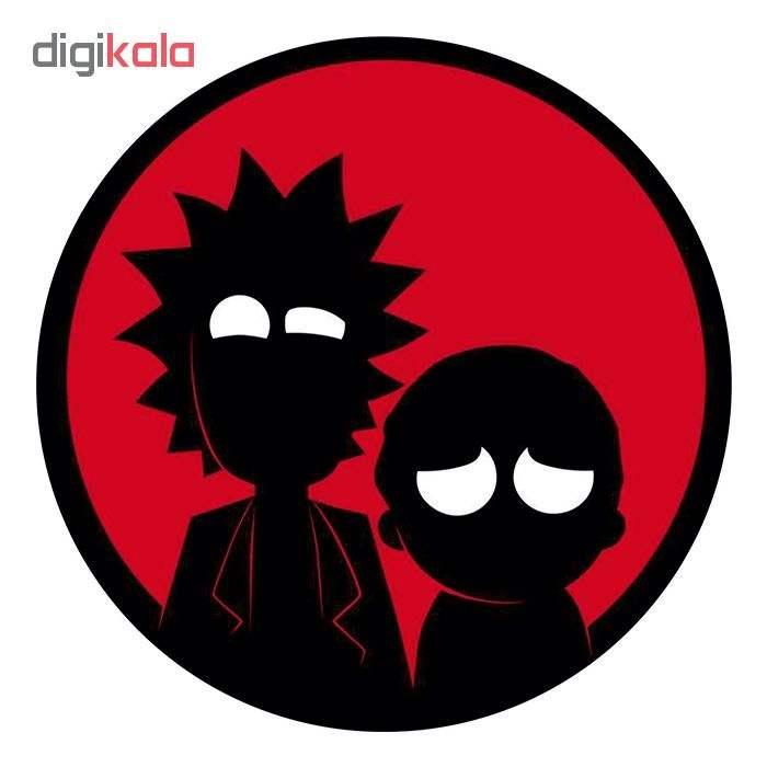 استیکر لپ تاپ طرح Rick & morty کد 01 main 1 1