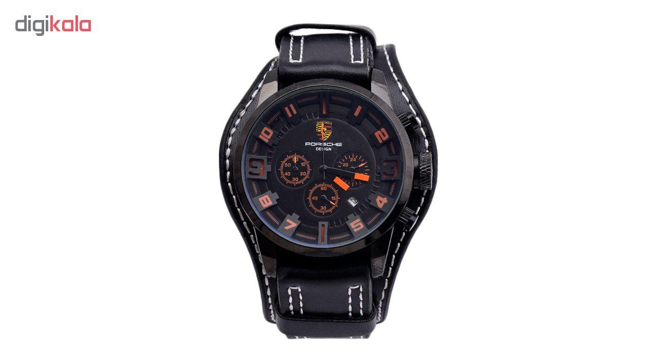 خرید ساعت مچی عقربه ای مردانه کد 3PSide-OrBk