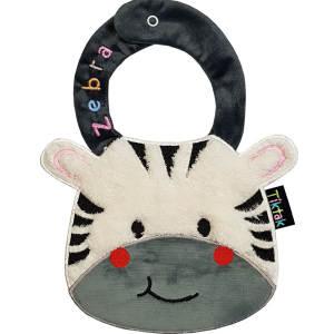 پیشبند نوزادی تیک تاک طرح عروسکی مدل Zebra