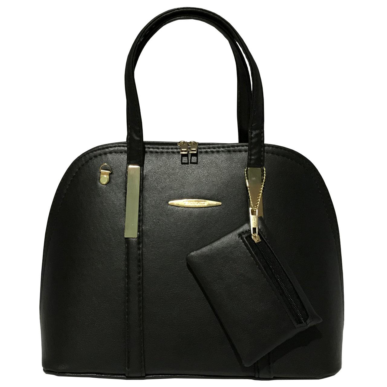 قیمت کیف دستی زنانه مدل 344 به همراه جاسوییچی چرم طبیعی طرح کفش هدیه