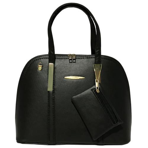 کیف دستی زنانه مدل 344 به همراه جاسوییچی چرم طبیعی طرح کفش هدیه