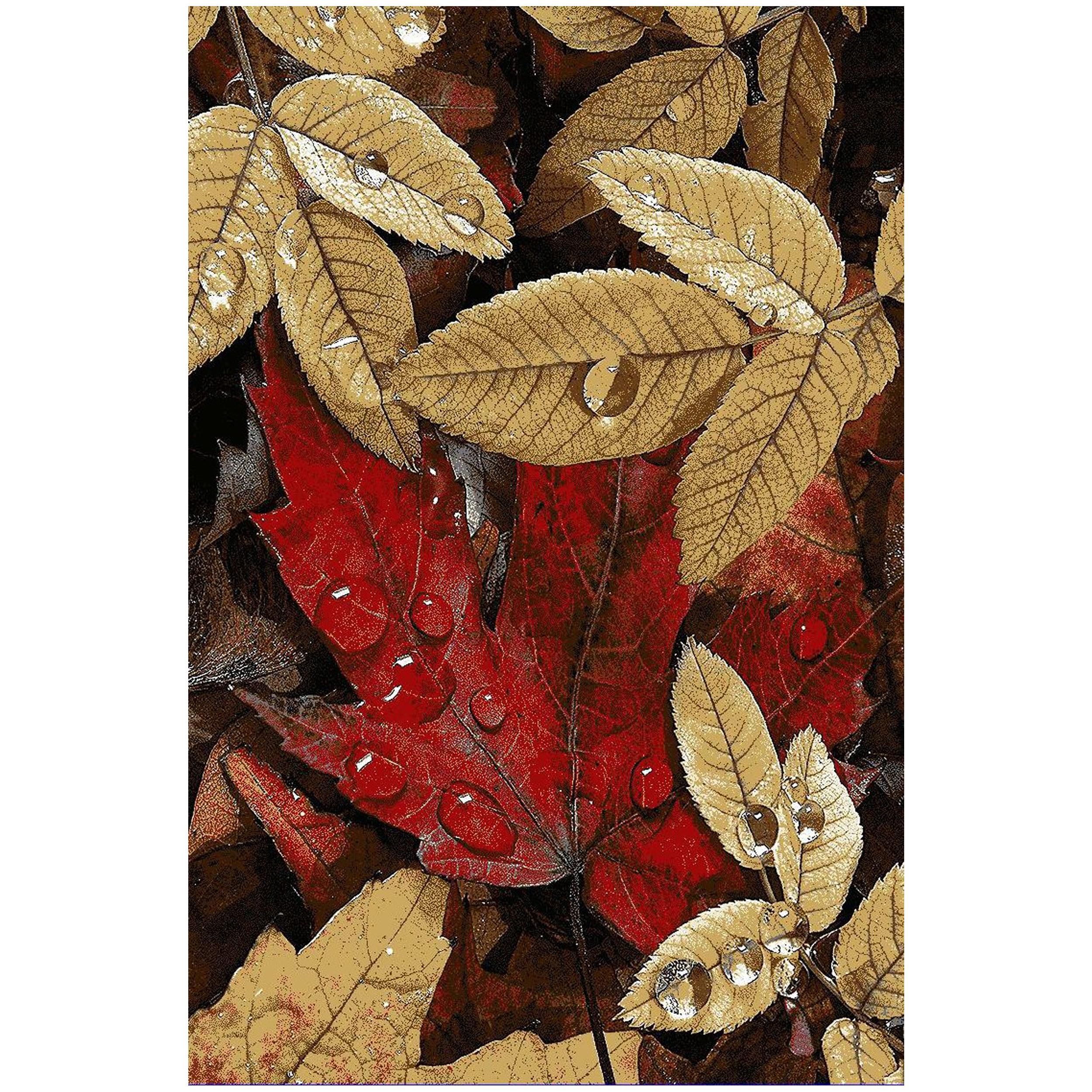 فرش ماشيني فانتزی سه بعدی طرح پاییز کد T0114